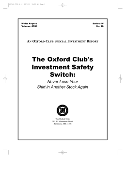 The Oxford Club's Investment Safety Switch