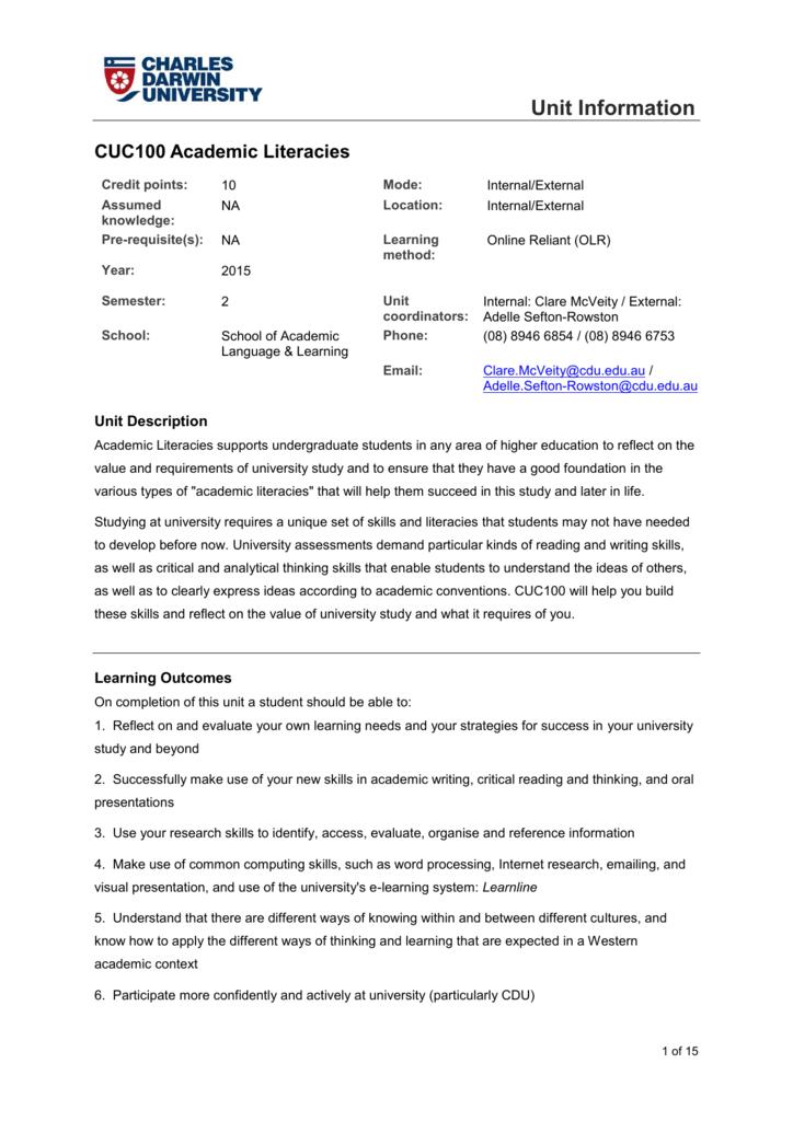 annotated bibliography cdu