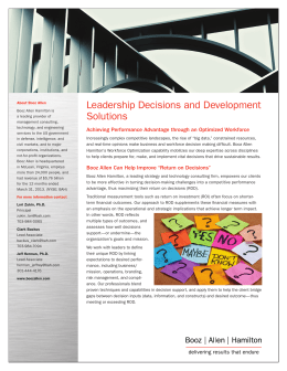 Leadership Decisions and Development Solutions Factsheet
