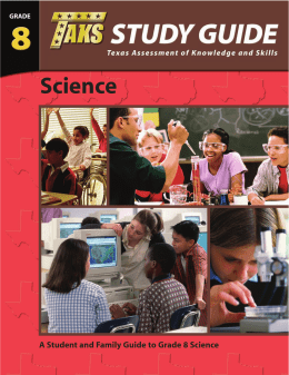 Science - Texas Education Agency