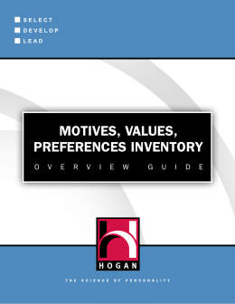 motives, values, preferences inventory