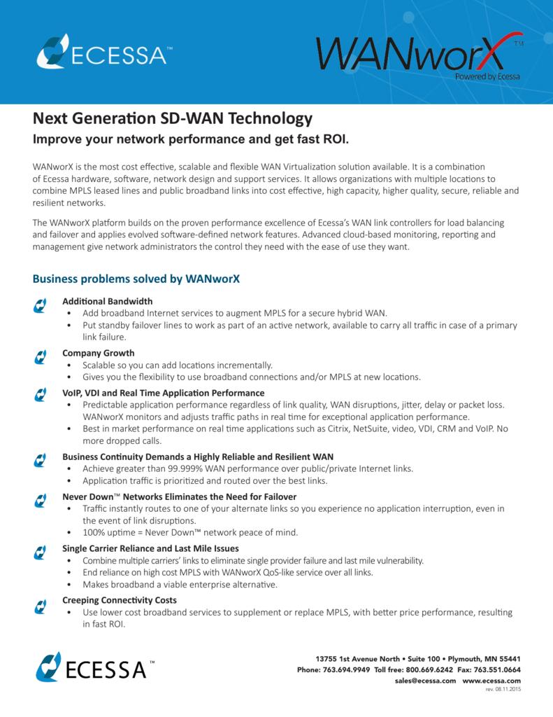 Next Generation SD-WAN Technology