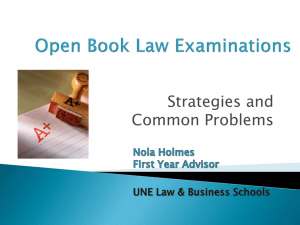 Open Book Examinations