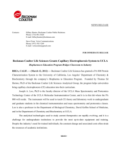 Beckman Coulter Life Sciences Grants Capillary Electrophoresis
