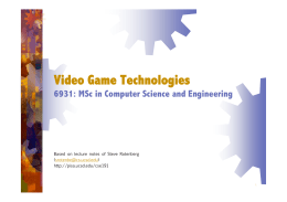Video Game Technologies