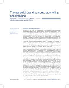 The essential brand persona: storytelling and