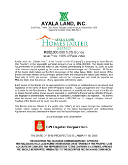 AYALA LAND, INC. - Ayala Land | Investor Relations