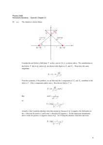 Physics 2426 Homework Solutions - Giancoli, Chapter 21 43. (a