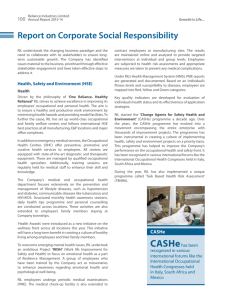 Report on Corporate Social Responsibility