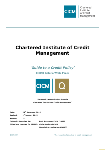 Guide to a Credit Policy - Institute of Credit Management