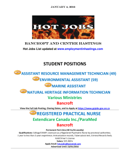 STUDENT POSITIONS REGISTERED PRACTICAL NURSE
