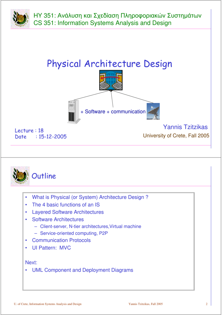 Physical Architecture Design