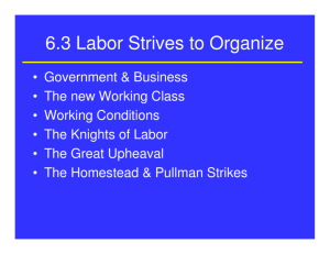6.3 Labor Strives to Organize