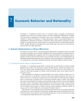 7 Economic Behavior and Rationality