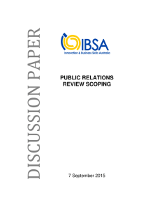 public relations review scoping - Innovation & Business Skills Australia