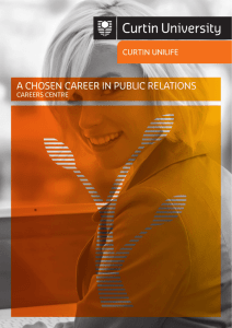 A CHOSEN CAREER IN PUBLIC RELATIONS