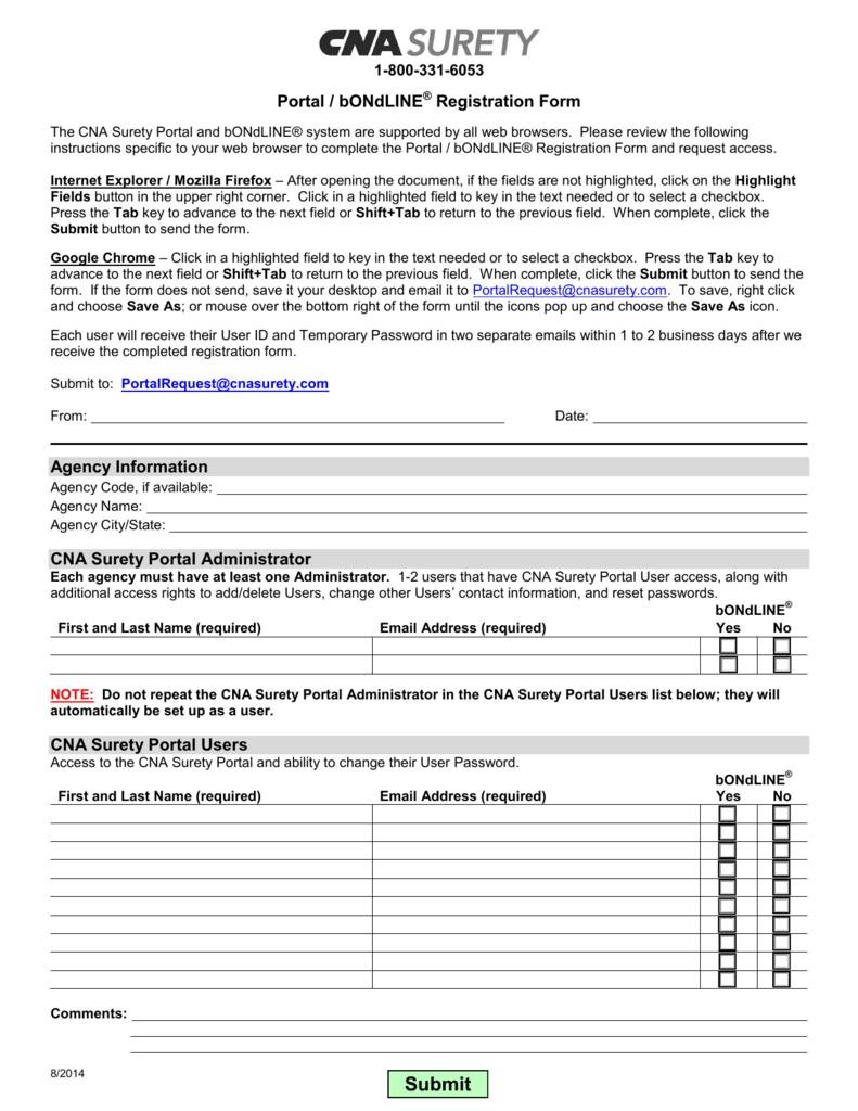 Portal Registration Form