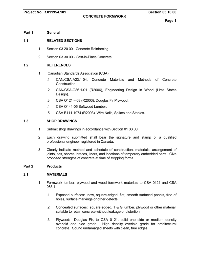 Part 1 General Nicolini Construction Ltd