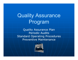 Quality Assurance Program - Cemtek Environmental, Inc.