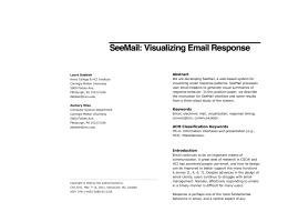 SeeMail: Visualizing Email Response