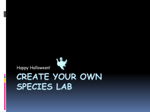 CREATE YOUR OWN SPECIES LAB