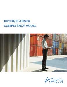 buyer/planner competency model