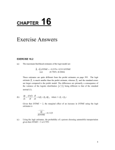 Exercise Answers - Principles of Econometrics
