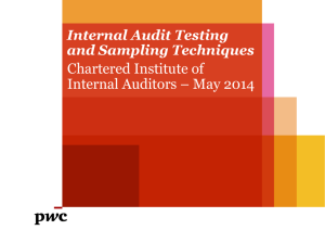 Audit testing and sample sizes - Chartered Institute of Internal Auditors