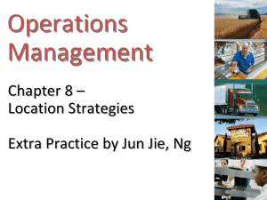 Chapter 8 – Location Strategies Extra Practice by Jun Jie, Ng