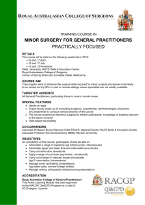 Fax Coversheet - Royal Australasian College of Surgeons