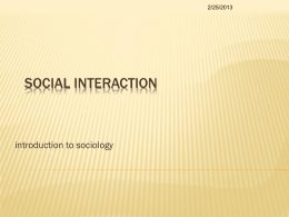 social interaction