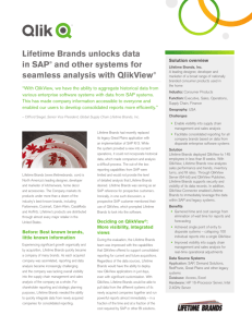 Lifetime Brands unlocks data in SAP® and other systems for