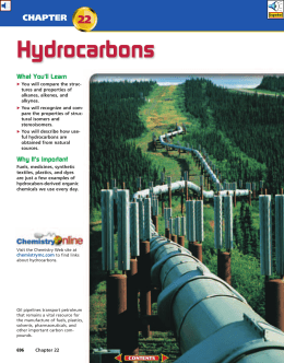 Chapter 22: Hydrocarbons