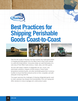 Best Practices for Shipping Perishable Goods Coast-to-Coast