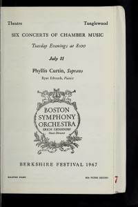Boston Symphony Orchestra concert programs, Summer, 1967