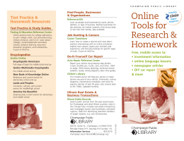 Online Tools for Research & Homework