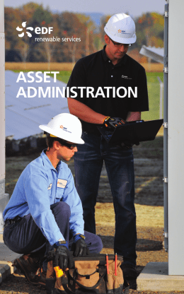 asset administration - EDF Renewable Energy
