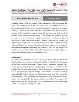 1 Rating Rationale for REI Agro Ltd's proposed secured Non