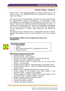 Teacher's Notes – Section 2 Please refer to the Curriculum Map for