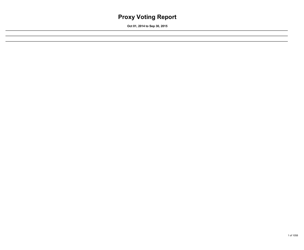 Proxy Voting Report - Office of the State Comptroller