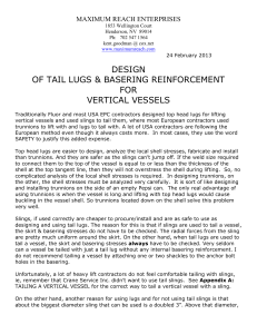 design of tail lugs & basering reinforcement for
