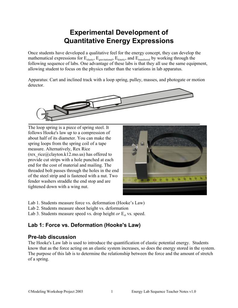 Suite of Energy Labs - St  Louis Area Physics Teachers