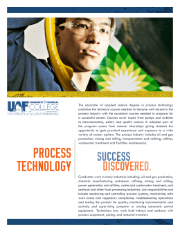 process technology - University of Alaska Fairbanks
