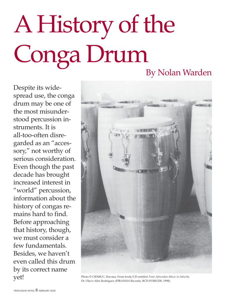 how to play conga drums