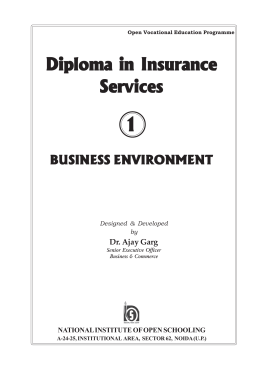 Diploma in Insurance Services - The National Institute of Open