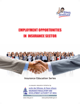 employment opportunities in insurance sector employment