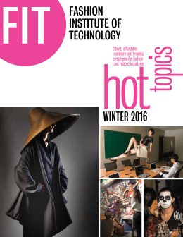 winter 2012 - Fashion Institute of Technology