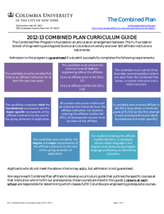The Combined Plan - Columbia Undergraduate Admissions