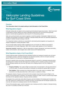 Helicopter Landing Guidelines for Surf Coast Shire