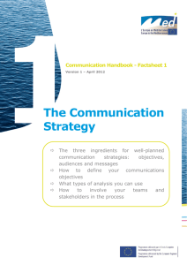 The Communication Strategy